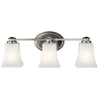 Kichler 45898NI Clare 3 Light 21 inch Brushed Nickel Vanity Light Wall Light, 3 Arm