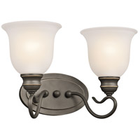 Kichler 45902OZ Tanglewood 2 Light 15 inch Olde Bronze Bath Vanity Wall Light