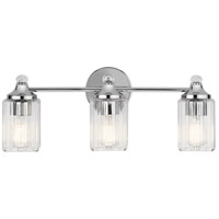 Riviera 3 Light 23 inch Chrome Vanity Light Wall Light, 3 Arm