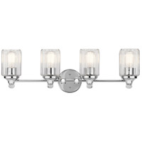 Riviera 4 Light 28 inch Chrome Vanity Light Wall Light, 4 Arm
