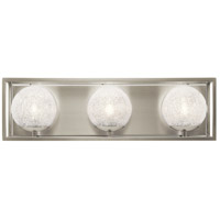 Kichler 45918NI Karia 3 Light 21 inch Brushed Nickel Vanity Light Wall Light, 3 Arm