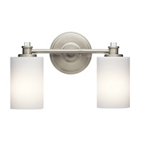Kichler 45922NI Joelson 2 Light 14 inch Brushed Nickel Vanity Light Wall Light in Standard