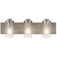 Kichler 45928CLP Dalwood 3 Light 24 inch Classic Pewter Vanity Light Wall Light, 3 Arm
