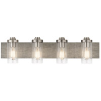 Kichler 45929CLP Dalwood 4 Light 32 inch Classic Pewter Vanity Light Wall Light, 4 Arm
