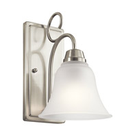 Kichler 45938NI Bixler 1 Light 7 inch Brushed Nickel Wall Sconce Wall Light in Standard