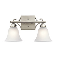 Bixler 2 Light 17 inch Brushed Nickel Vanity Light Wall Light in Standard