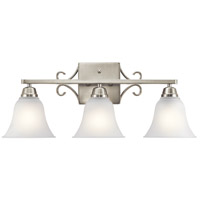 Bixler 3 Light 24 inch Brushed Nickel Vanity Light Wall Light in Standard