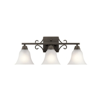 Kichler 45940OZL16 Bixler 3 Light 24 inch Olde Bronze Vanity Light Wall Light in LED, Dimmable