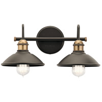 Clyde 2 Light 17 inch Olde Bronze Vanity Light Wall Light, 2 Arm