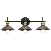 Clyde 3 Light 26 inch Olde Bronze Vanity Light Wall Light, 3 Arm