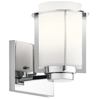 Kichler 45946CH Chagrin 1 Light 6 inch Chrome Wall Sconce Wall Light photo thumbnail