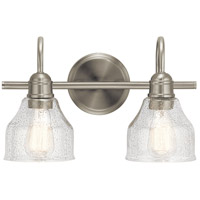 Avery 2 Light 15 inch Brushed Nickel Vanity Light Wall Light, 2 Arm