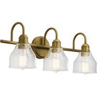 Kichler 45973NBR Avery 3 Light 24 inch Natural Brass Vanity Light Wall Light