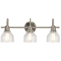 Avery 3 Light 24 inch Brushed Nickel Vanity Light Wall Light, 3 Arm