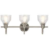 Kichler 45973NI Avery 3 Light 24 inch Brushed Nickel Vanity Light Wall Light, 3 Arm alternative photo thumbnail