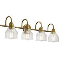 Kichler 45974NBR Avery 4 Light 33 inch Natural Brass Wall Mt Bath 4 Arm Wall Light