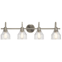 Avery 4 Light 33 inch Brushed Nickel Vanity Light Wall Light, 4 Arm