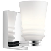 Kichler 45975CH Victoria 1 Light 5 inch Chrome Wall Sconce Wall Light