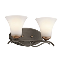 Kichler Lighting Claridge Court 2 Light Bath Vanity in Olde Bronze 45986OZ photo thumbnail