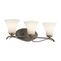 Kichler Lighting Claridge Court 3 Light Bath Vanity in Olde Bronze 45987OZ photo thumbnail