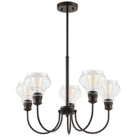 Schoolhouse 5 Light 26 inch Oil Rubbed Bronze Chandelier Ceiling Light, Medium
