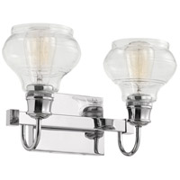 Schoolhouse 2 Light 15 inch Chrome Vanity Light Wall Light