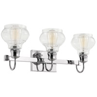 Schoolhouse 3 Light 24 inch Chrome Vanity Light Wall Light
