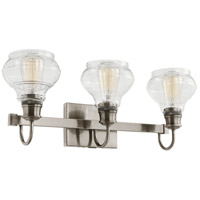 Schoolhouse 3 Light 24 inch Classic Pewter Vanity Light Wall Light