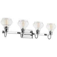 Schoolhouse 4 Light 33 inch Chrome Vanity Light Wall Light