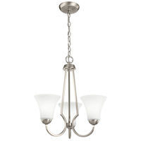Signature 3 Light 18 inch Brushed Nickel Mini Chandelier Ceiling Light