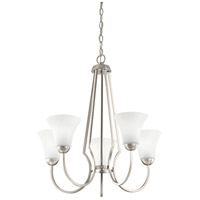 Signature 5 Light 25 inch Brushed Nickel Chandelier Ceiling Light, Medium
