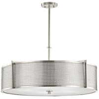 Perforated 5 Light 30 inch Brushed Nickel Pendant Ceiling Light