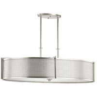 Kichler 48116NI Perforated 6 Light 18 inch Brushed Nickel Chandelier Oval Pendant Ceiling Light