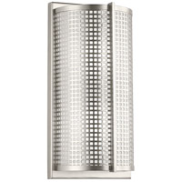 Kichler 48117NI Perforated 2 Light 8 inch Brushed Nickel Wall Sconce Wall Light
