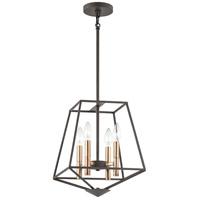 Kichler 48118OZ Geometric 4 Light 17 inch Olde Bronze Pendant Ceiling Light