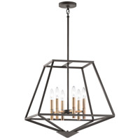 Geometric 6 Light 28 inch Olde Bronze Pendant Ceiling Light