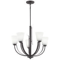 Kichler 48120AVI Lodge 5 Light 27 inch Anvil Iron Chandelier Ceiling Light Medium