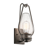 Kichler 49006AVI Hanford 1 Light 15 inch Anvil Iron Outdoor Wall Lantern