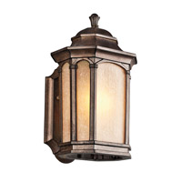 Kichler Lighting Duquesne 1 Light Outdoor Wall Lantern in Brown Stone 49030BST