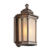 Kichler Lighting Duquesne 1 Light Outdoor Wall Lantern in Brown Stone 49031BST