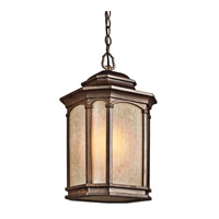 Kichler Lighting Duquesne 1 Light Outdoor Pendant in Brown Stone 49033BST photo thumbnail