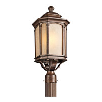 Kichler Lighting Duquesne 1 Light Outdoor Post Lantern in Brown Stone 49034BST photo thumbnail