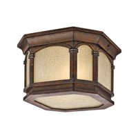 Kichler Lighting Duquesne 2 Light Outdoor Flush Mount in Brown Stone 49035BST photo thumbnail