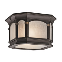 Kichler Lighting Nob Hill 2 Light Outdoor Flush Mount in Rubbed Bronze 49035RZ photo thumbnail