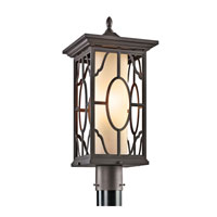 Kichler Lighting Mackenzie 1 Light Outdoor Post Lantern in Architectural Bronze 49042AZ photo thumbnail