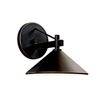 Kichler 49059OZ Ripley 1 Light 8 inch Olde Bronze Outdoor Wall Lantern
