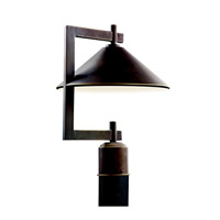 Ripley 1 Light 16 inch Olde Bronze Outdoor Post Lantern
