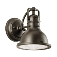 Kichler 49064OZ Hatteras Bay 1 Light 8 inch Olde Bronze Outdoor Wall Lantern photo thumbnail