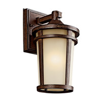 Kichler Lighting Atwood 1 Light Fluorescent Outdoor Wall Lantern in Brown Stone 49071BSTFL photo thumbnail