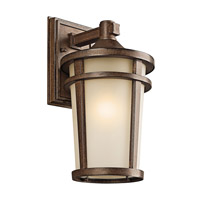 Kichler Lighting Atwood 1 Light Outdoor Wall Lantern in Brown Stone 49072BST photo thumbnail